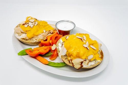 bagel melts turkey almond melt