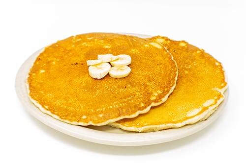 breakfast banana granola pancakes