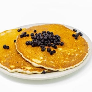 breakfast blueberry pancakes