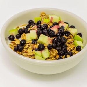 breakfast bowl of yogurt house toasted granola fresh fruit