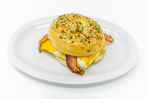 breakfast breakfast sandwich bagel