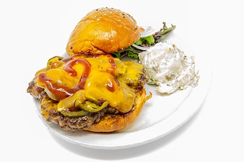 burgers bbq jalapeno cheeseburger