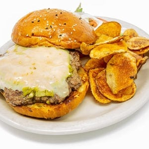 burgers green chile cheeseburger