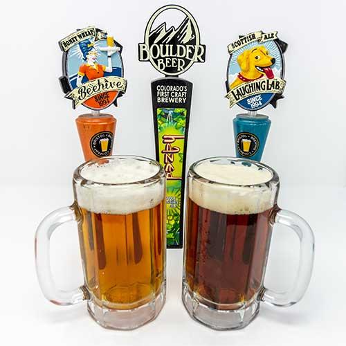 drinks beer on tap