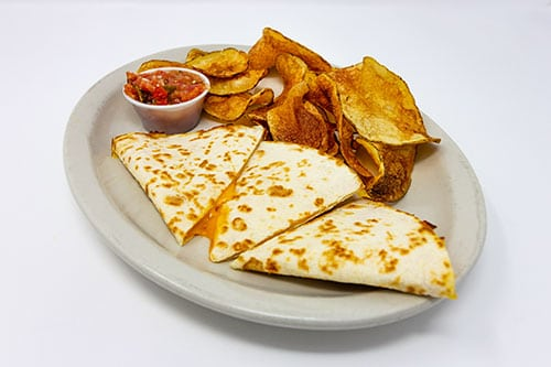 wooglins kids menu cheese quesadilla