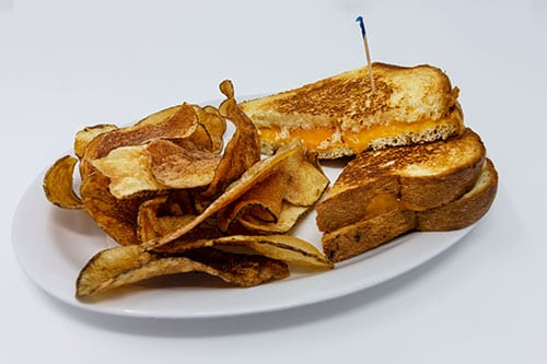 kids menu grilled cheese sandwich