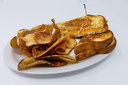 kids menu grilled cheese sandwich