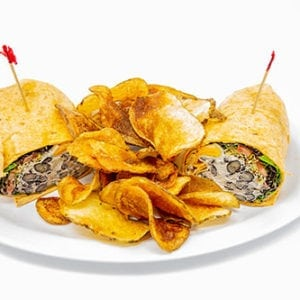 overstuffed sandwiches and wraps black bean wrap