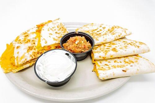 quesadilla fresh veggies cheddar quesadilla