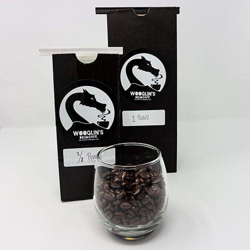 wooglins drinks roasted coffee beans